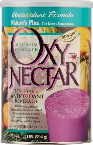 Nature's Plus  Oxy-Nectar® Ten-Stage Antioxidant Beverage   Natural Mixed Berry Perspective: front