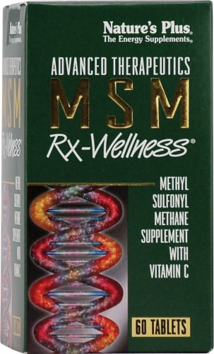Nature's Plus  Advanced Therapeutics MSM Rx-Wellness® Perspective: front