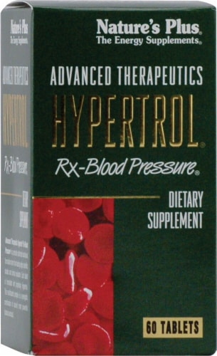 Nature's Plus  Advanced Therapeutics Hypertrol® Rx Blood Pressure® Dietary Supplement Perspective: front