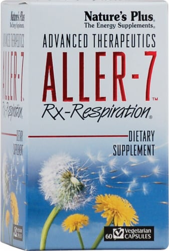 Nature's Plus  Advanced Therapeutics Aller-7® Rx-Respiration® Perspective: front
