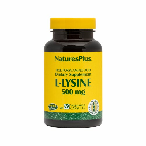 Nature's Plus L-Lysine 500 MG Perspective: front
