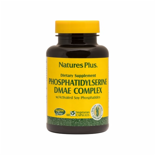 Nature's Plus Phosphatidylserine DMAE Complex Dietary Supplement Vegetarian Capsules Perspective: front