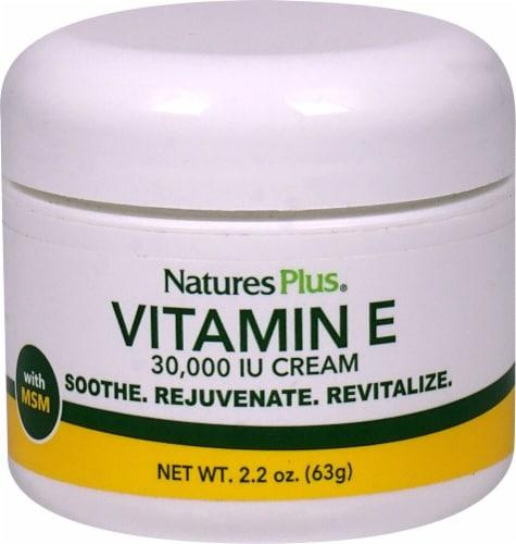 Nature's Plus  Vitamin E Cream Perspective: front