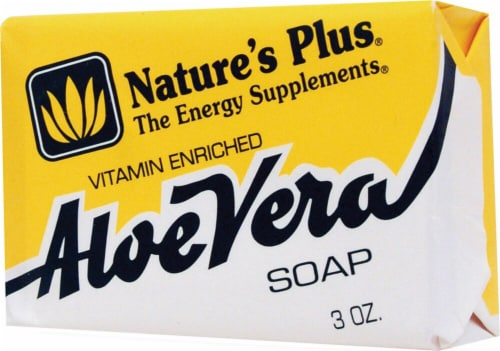 Nature's Plus Aloe Vera Soap Perspective: front