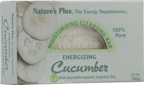 Nature's Plus Energizing Cleansing Bar Cucumber Perspective: front