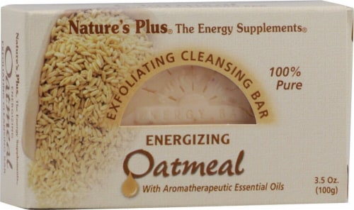 Nature's Plus Cleansing Bar Oatmeal Perspective: front