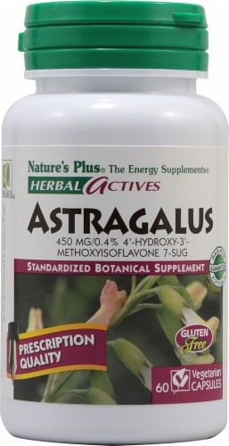 Nature's Plus Herbal Actives Astragalus Capsules 450 mg Perspective: front