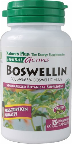 Nature's Plus Herbal Actives Boswellin Capsules 300 mg Perspective: front
