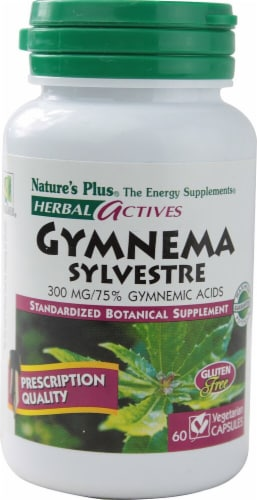 Nature's Plus Herbal Actives Gymnema Sylvestre Capsules 300 mg Perspective: front