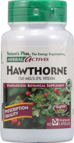 Nature's Plus Herbal Actives English Hawthorne Capsules 150mg 60 Count Perspective: front