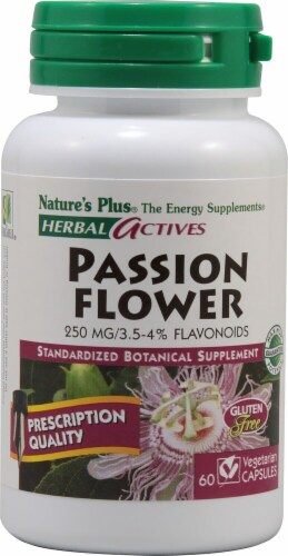 Nature's Plus Herbal Actives Passion Flower Capsules 250 mg Perspective: front