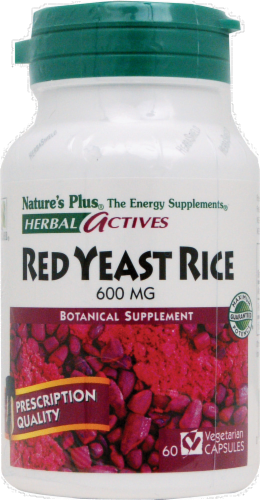 Nature's Plus Red Yeast Rice Capsules 600 mg Perspective: front