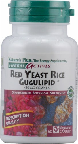 Nature's Plus  Herbal Actives Red Yeast Rice Gugulipid® Dietary Supplement Perspective: front