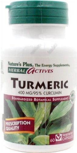 Nature's Plus Herbal Actives Turmeric Capsules 450 mg Perspective: front