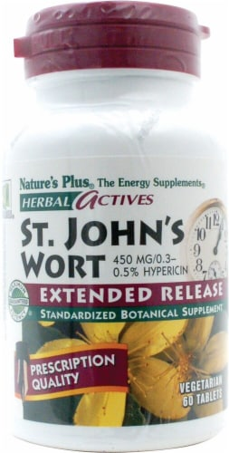 Nature's Plus Herbal Actives St John's Wort Tablets Perspective: front
