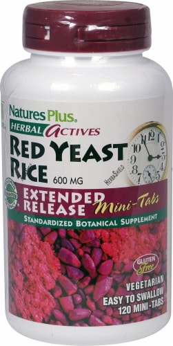 Nature's Plus Herbal Actives Red Yeast Rice Supplement Perspective: front