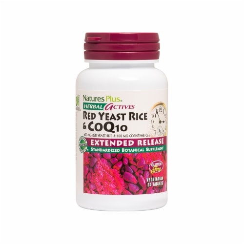 Natures Plus Extended Release Red Yeast Rice & CoQ10 Tablets Perspective: front