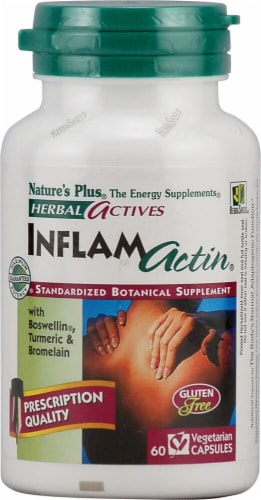 Nature's Plus Herbal Actives InflamActin Capsules Perspective: front