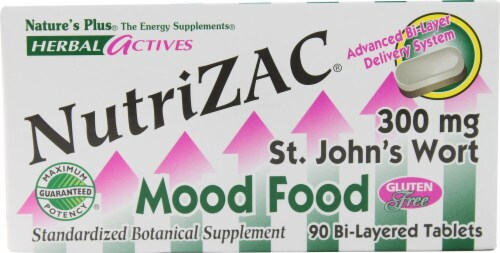 Nature's Plus Herbal Actives NutriZAC Mood Food Tablets Perspective: front