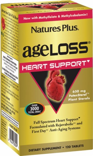 Nature's Plus Age Loss Heart Support Tablets Perspective: front