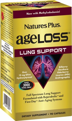 Nature's Plus Age Loss Lung Support Perspective: front