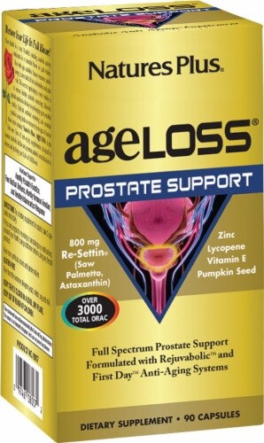 Nature's Plus Age Loss Prostrate Support Capsules Perspective: front