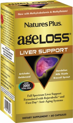 Nature's Plus Age Loss Liver Support Capsules Perspective: front