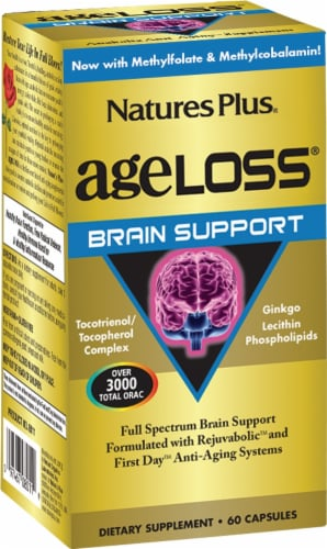 Nature's Plus AgeLoss Brain Support Capsules Perspective: front