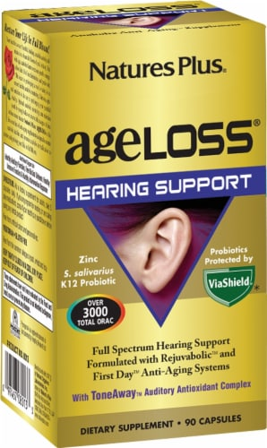 Nature's Plus Age Loss Hearing Support Perspective: front