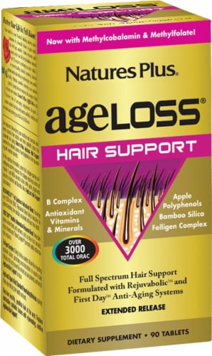 Nature's Plus Age Loss Hair Support Perspective: front