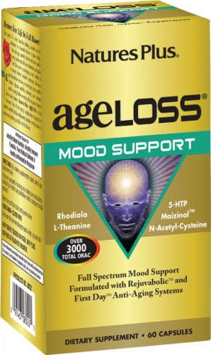Nature's Plus Age Loss Mood Support Capsules Perspective: front