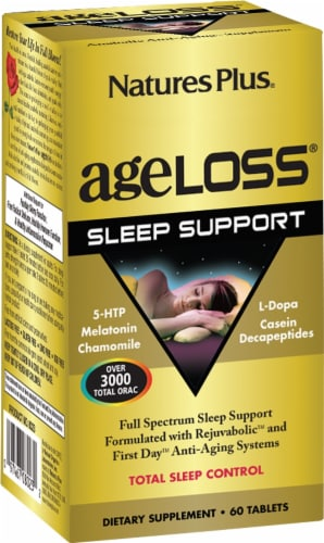 Nature's Plus AgeLoss Sleep Support Tablets Perspective: front