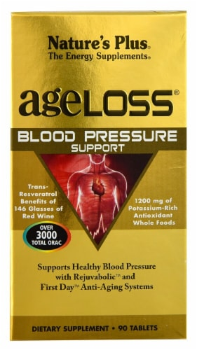 Nature's Plus  AgeLoss® Blood Pressure Support Supplement Perspective: front
