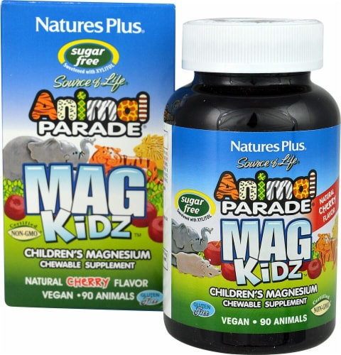 Nature's Plus  Animal Parade® MagKidz™ Children's Magnesium   Natural Cherry Perspective: front