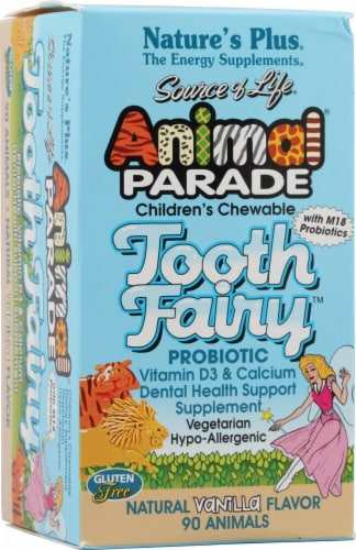 Nature's Plus  Animal Parade® Tooth Fairy™ Children's Chewable Probiotic   Vanilla Perspective: front