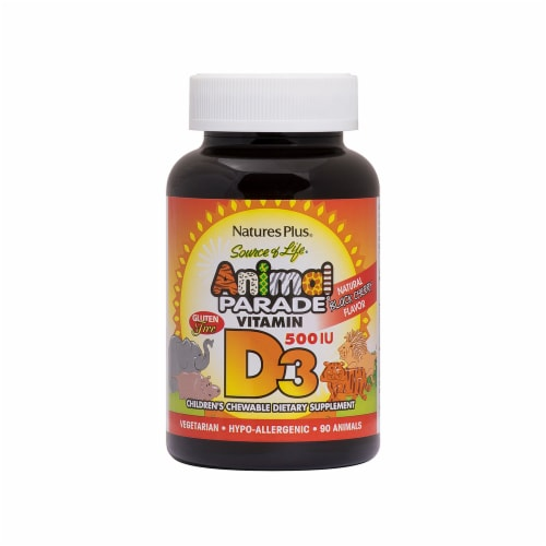 Natures Plus Animal Parade Vitamin D3 Perspective: front