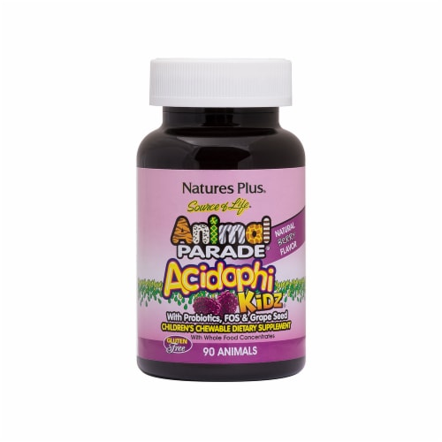Nature's Plus Animal Parade Acidophi Berry Perspective: front