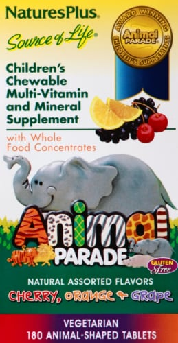 Nature's Plus Animal Parade Chewable Vitamin Perspective: front