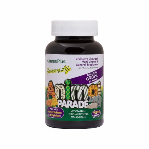 Nature's Plus Animal Parade Grape Flavor Vitamin Perspective: front