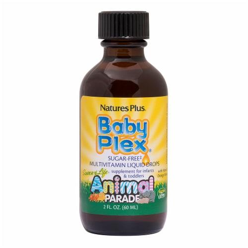 Nature's Plus Animal Parade Baby Plex Multivitamin Liquid Drops Perspective: front