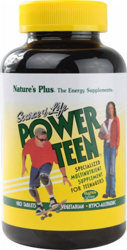 Nature's Plus  Source of Life® Power Teen® Perspective: front