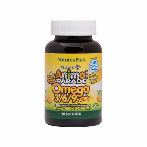 Nature's Plus Animal Parade Omega 3/6/9 Junior Perspective: front