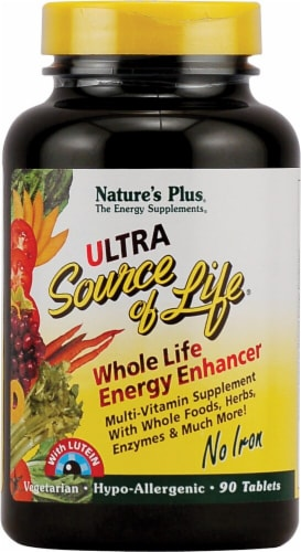 Nature's Plus Ultra Source of Life Whole Life Energy Enhancer with Lutein Tablets 90 Count Perspective: front