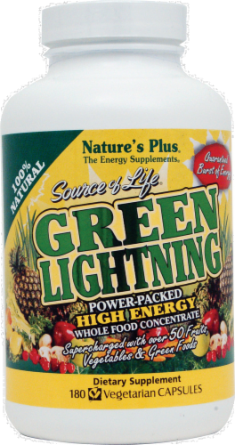 Nature's Plus Source of Life Green Lightning Capsules Perspective: front