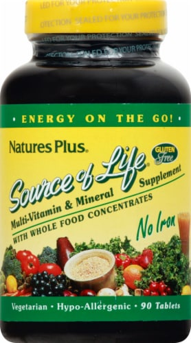 Nature's Plus Source of Life Tablets 90 Count Perspective: front