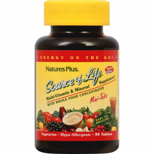 Nature's Plus  Source of Life® Multi-Vitamin and Mineral Supplement Perspective: front