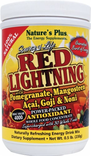 Nature's Plus Source of Life Red Lightning Antioxidant Energy Drink Mix Perspective: front