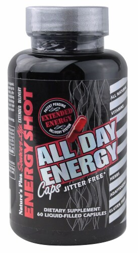 Nature's Plus  Source of Life® Energy Shot All Day Energy Caps Perspective: front