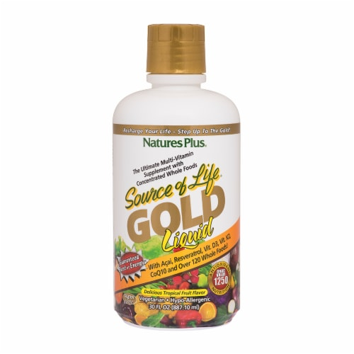 Nature's Plus Source of Life Gold Vitamin Perspective: front