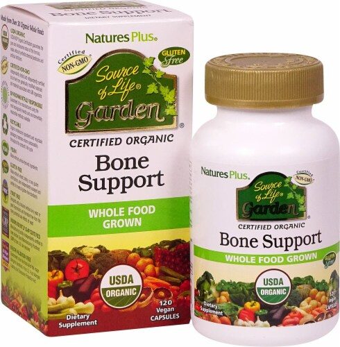 Nature's Plus  Source of Life® Garden Bone Support with AlgaeCal Perspective: front